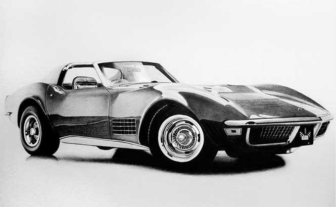 teckning-bil